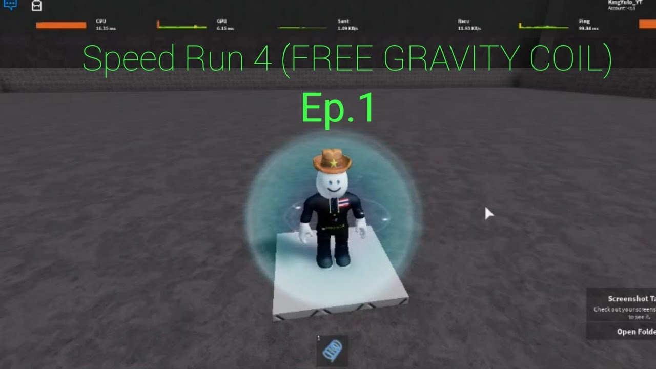 How To Skip Levels In Speed Run 4 Roblox Youtube Speed Gravity Coil Roblox