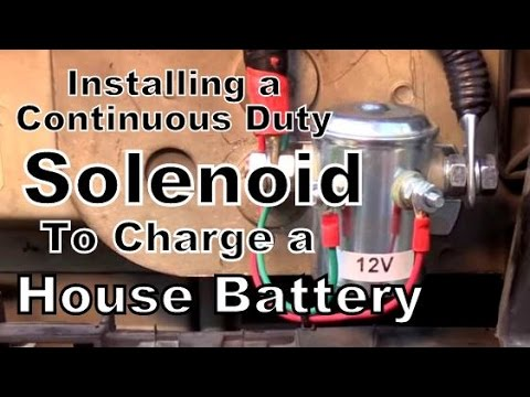 3 Battery Wiring Diagram In Rv How To Install A Continuous Duty Solenoid In A Van Youtube