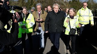 video: Boris Johnson branded a 'traitor' as he makes first floods visit