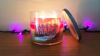 Pumpkin Spiced Cheesecake Candle Review - Bath & Body Works, White Barn Exclusive