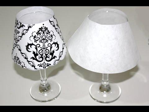Cómo hacer lámparas usando copas para cena romántica