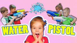 Kids playing Water blasters GAME 💦