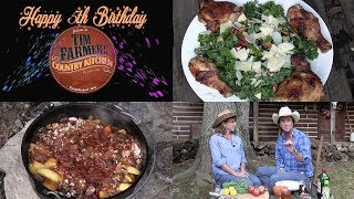 Cowboy Campfire Chicken, Kale Salad, & Apple Crunch Dessert (Episode #436)