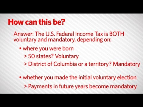 How Can the Federal Income Tax be Voluntary?