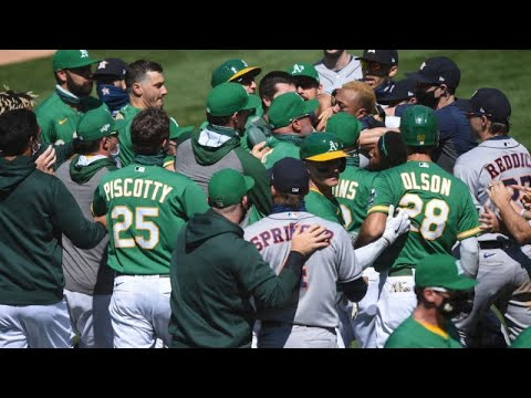 Astros and Athletics Brawl! | The Benches Emptied in Asterisks vs Athletics MLB Game