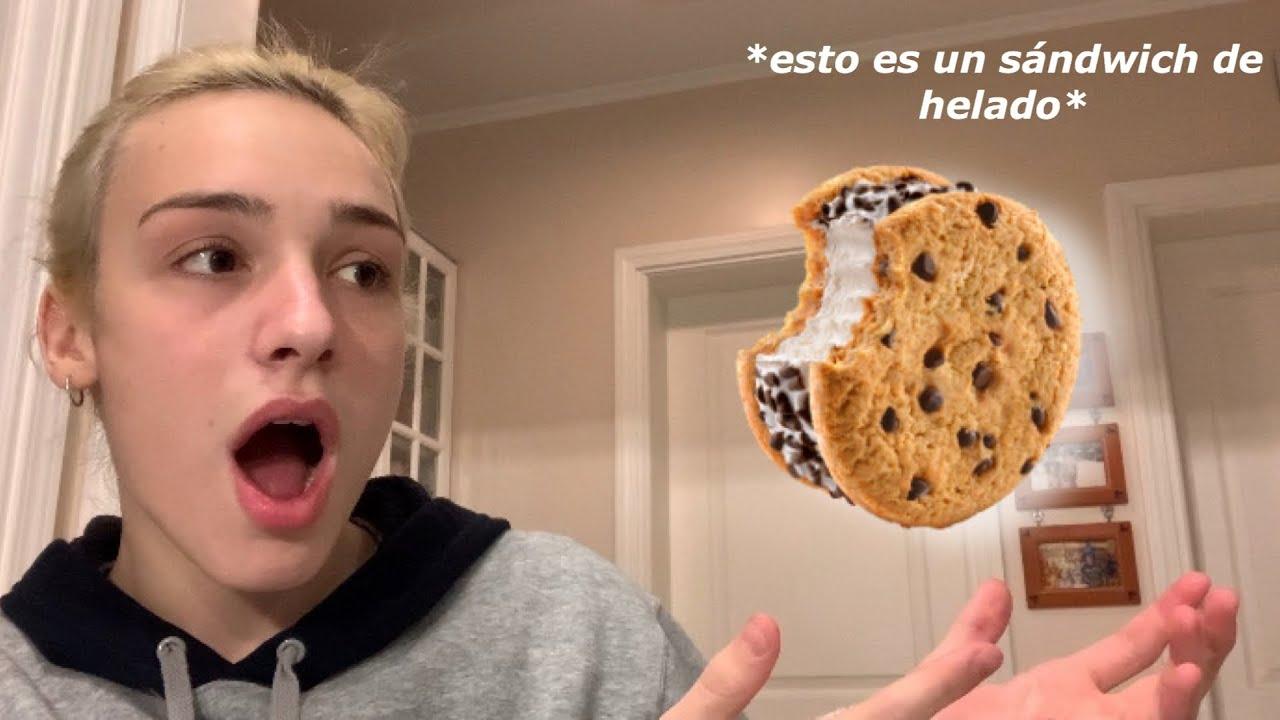 COCINANDO UN SÁNDWICH DE HELADO