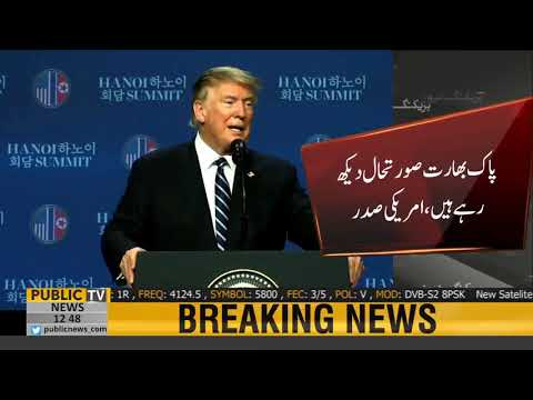 Good news of peace coming from India & Pak, says U.S President Donald Trump