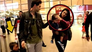 Sunny Leone And HUSBAND  IGNORE Crying ADOPTED  Daughter At The Airport