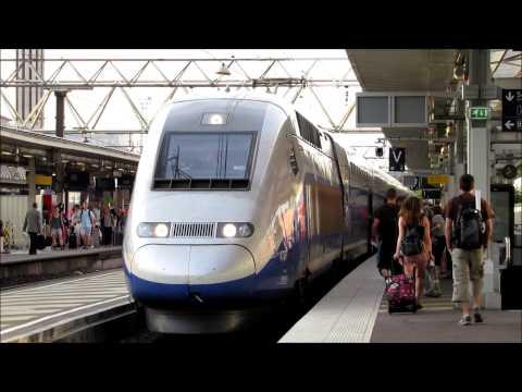 [DB/SNCF] Lyon Part-Dieu : TGV 2N2 Frankfurt - Marseille (Annonces + Vidéo) HD