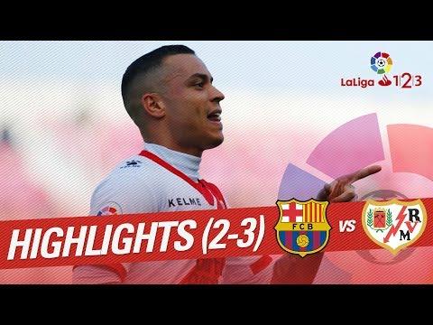 Resumen de FC Barcelona B vs Rayo Vallecano (2-3)