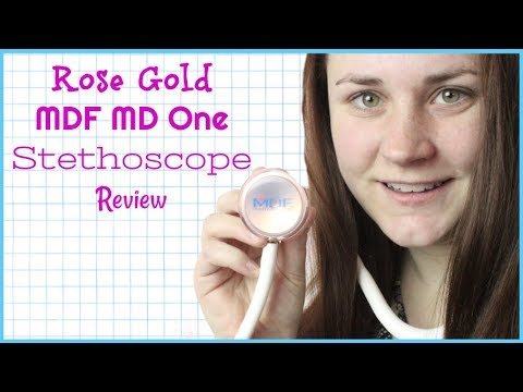 MDF MD ONE ROSE GOLD STETHOSCOPE REVIEW | Allie Young