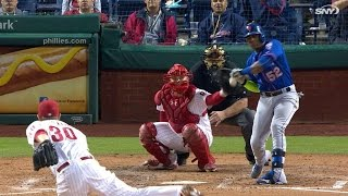 NYM@PHI: Hit batters lead to benches emptying