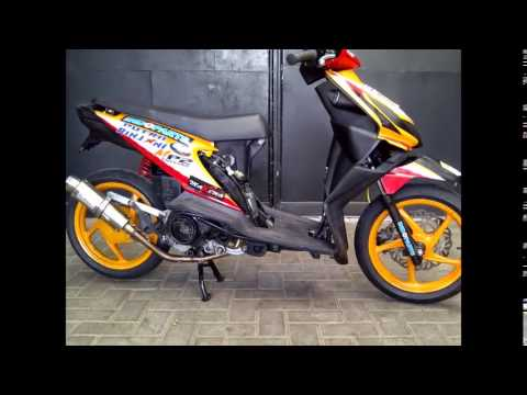 modifikasi motor honda beat road race  paling bagus