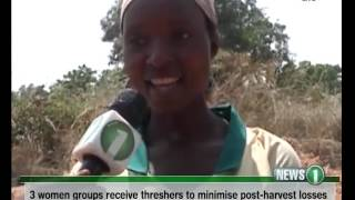 Three women groups receive Soybean Threshers to minimize post-harvest losses 16