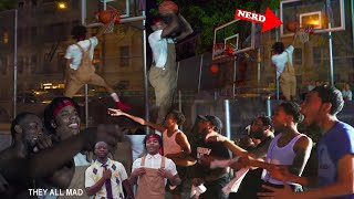 NERD Plays Basketball In The HOOD VS NY TRASH TALKERS !!!