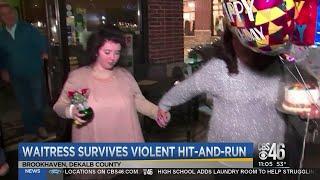 Waitress celebrates birthday a year after tragic accident