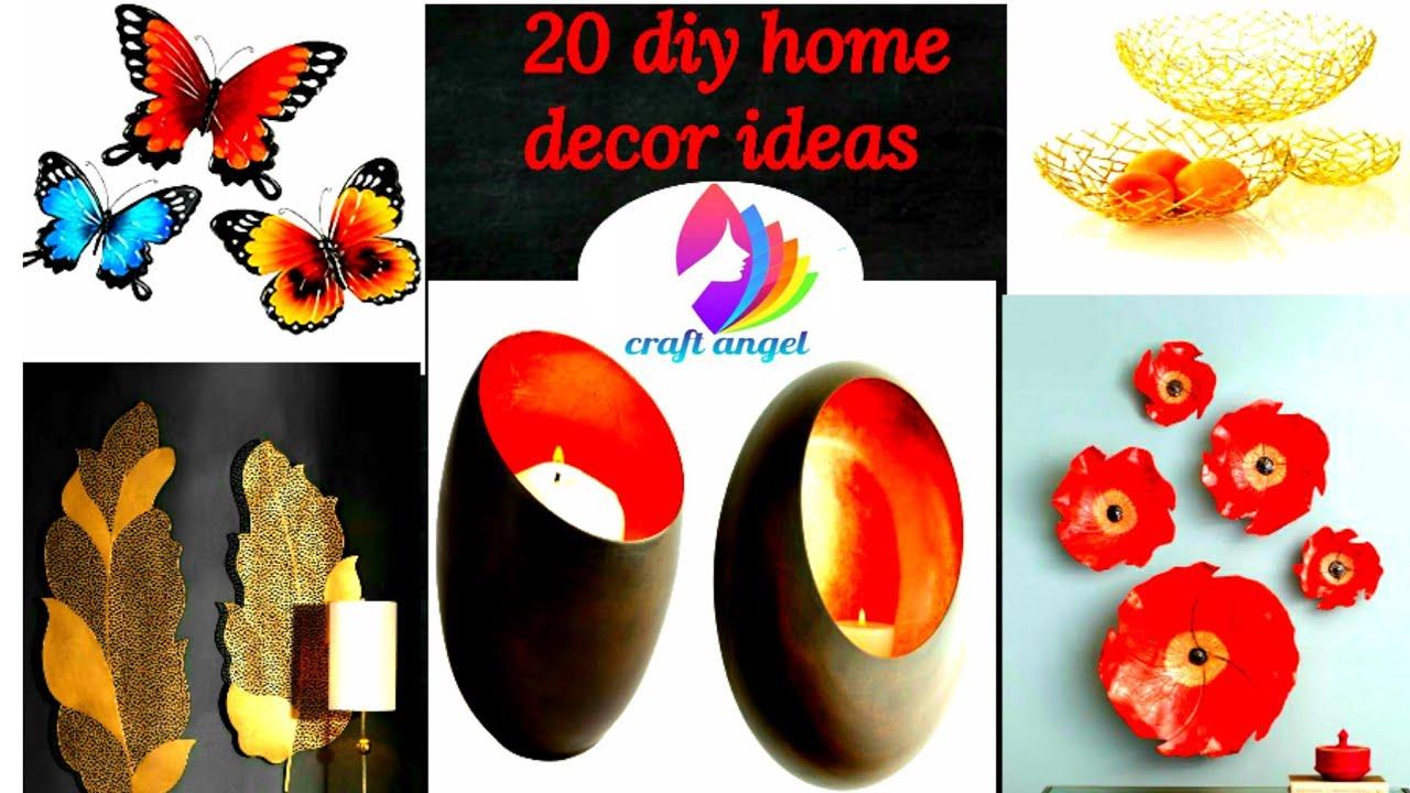 20 diy home decor ideas   art and craft   5 minute craft ...