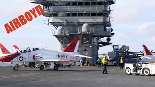 "T-45 Goshawk ""Eagles"" Train On USS Abraham Lincoln (CVN-72)"