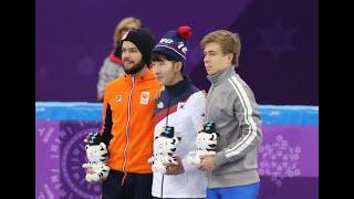 넘어졌는데도 따라와 '1위' 차지한 한국에 놀란 캐나다 선수들