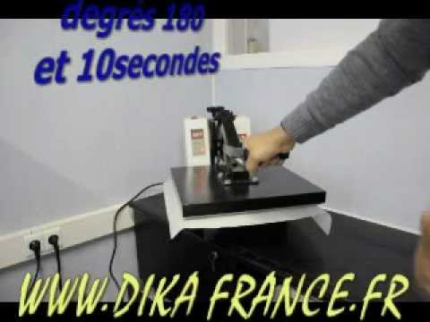 flocage flex presse a chaud plotter de decoupe t shirt flex flex plotter youtube. Black Bedroom Furniture Sets. Home Design Ideas