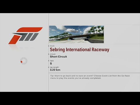Forza Motorsport 3 - #55 - [Class F North America Tour] - 03/05 - SEBRING INTERNATIONAL [XBOX 360]