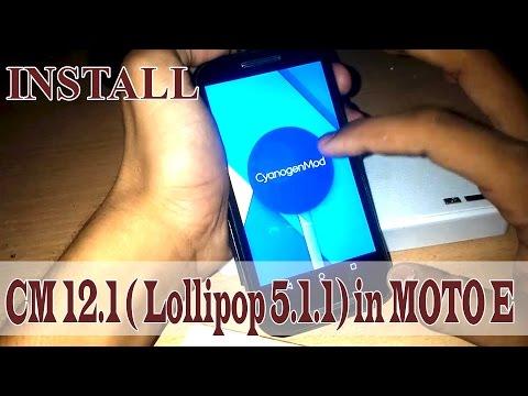 HOW To Install Custom Rom Official CM12.1 (Lollipop 5.1.1) or AICP rom in Moto E (1st Gen)