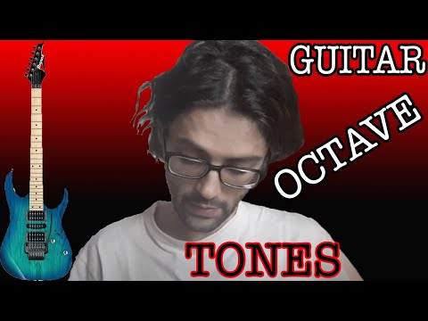 How to use electric guitar octave tones.