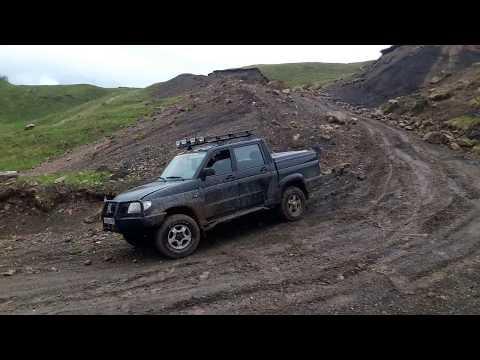 Экстимальная езда на УАЗ Патриот пикап в Нашха