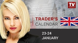 InstaForex tv news: Traders' calendar for January 23 - 24: ECB to decide EUR's fate