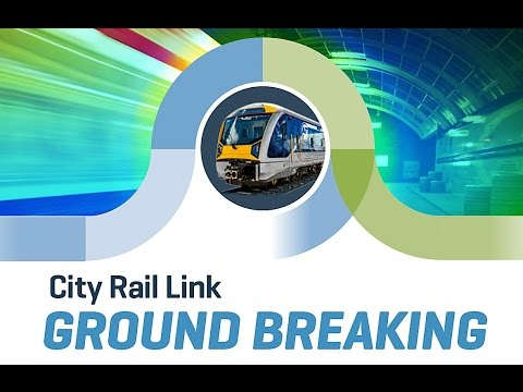 Auckland Transport Live Stream - City Rail Link ground breaking ceremony