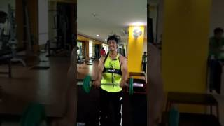 Asish rout some bicep workout @ gym floor