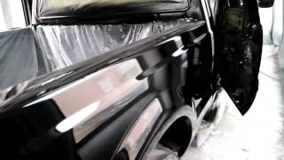 Wet Wet Painted JET Black Ford F250