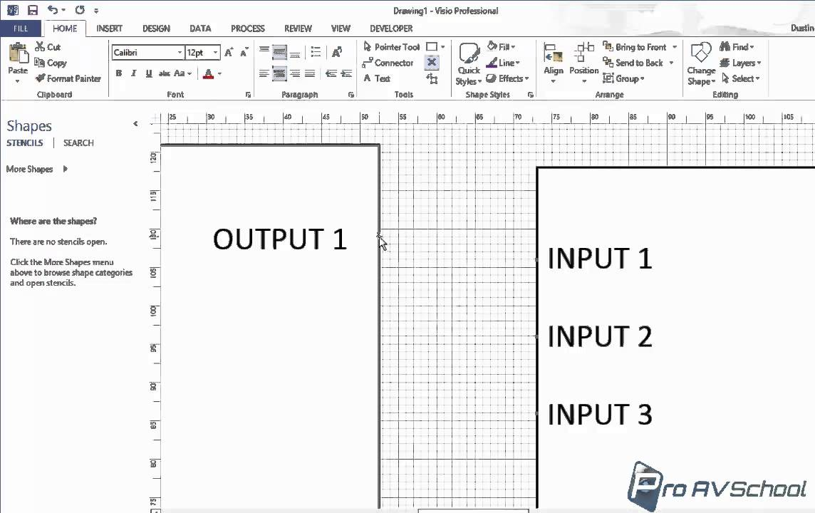 small resolution of microsoft visio audio visual connection points