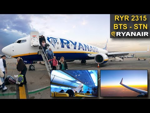 TRIP REPORT | Ryanair SkyInterior | BRATISLAVA - LONDON STANSTED | Boeing 737