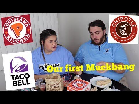 Our First Muckbang + Q&A W/ My Boyfriend!