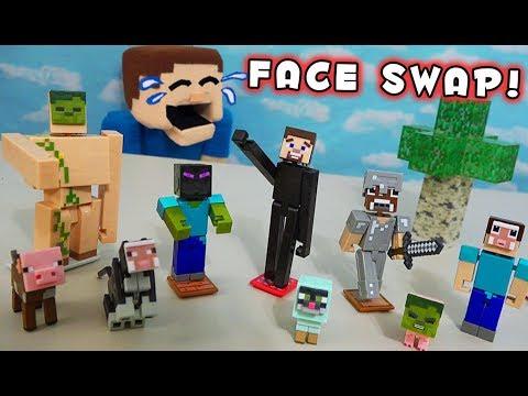 Minecraft Mattel Comic Maker Figures Series 2 Stop Motion Unboxing Fun!