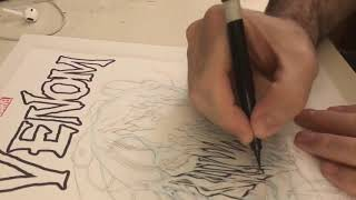 Mat Nastos speed drawing Carnage