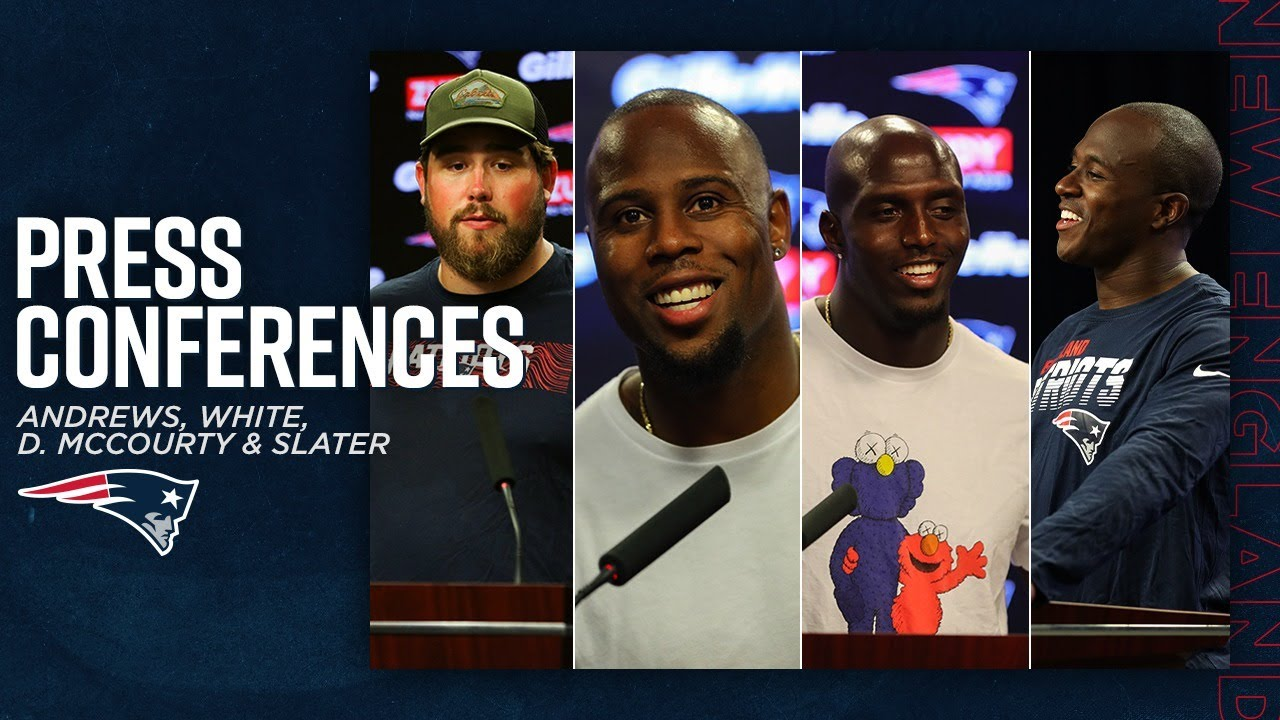 David Andrews, Devin McCourty, Matthew Slater & James White Live Press Conference
