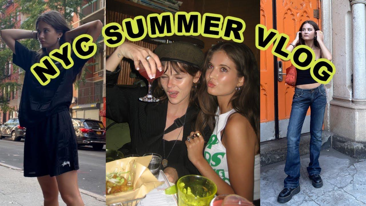 NYC SUMMER VLOG 08:  photoshoot with Internet GF, friends, PR Haul