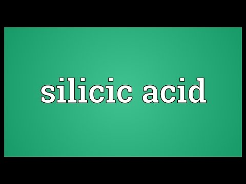 Silicic acid Meaning