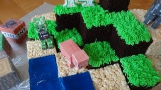 Repeat youtube video How to make a Minecraft cake - with yoyomax12