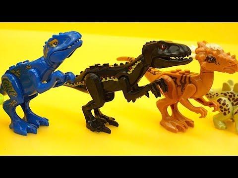 Динозавры игрушки конструктор для детей. Собираем динозавриков