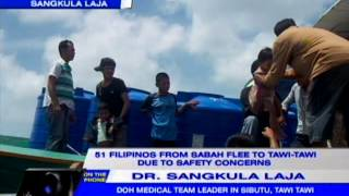 51 Filipinos from Sabah flee to Tawi-Tawi due to safety concerns