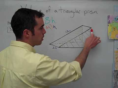 how to work out triangular prism volume