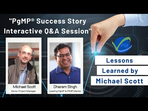 Learning from Michael Scott and Dharam Singh   How To Pass The PgMP  On Your First Attempt