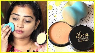 ONLY OLIVIA PAN CAKE Makeup on Face/No-Foundation, No-Concealer/HOW TO USE & REVIEW