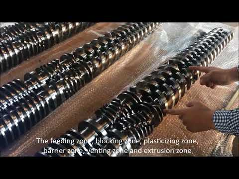 Conical twin extrusion screw and barrel - How to choose conical twin screw design for PVC extrusion