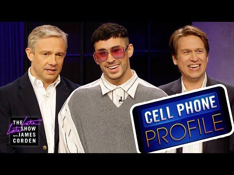 Cell Phone Profile W/ Bad Bunny, Pete Holmes & Martin Freeman