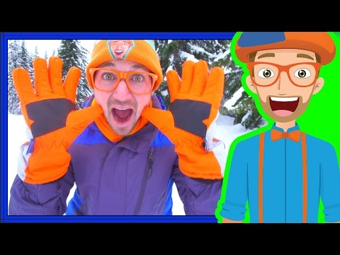 Snowmobile in the Snow with Blippi | Winter Outfit for Kids