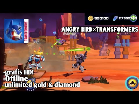 Game Offline Angry Bird × Transformers! mod Unlimited Money download Link